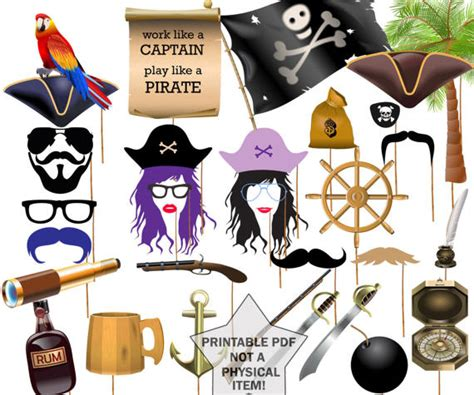 printable pirate photo booth props pirate party photo booth props printable party