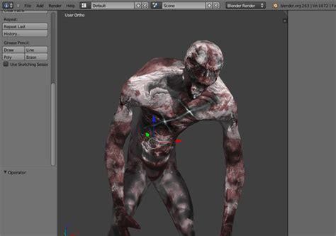 zombie blender tutorial thin zombie awake zombie asset opengameart org