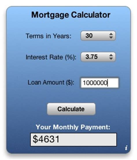 apple downloads dashboard widgets mortgage calculator