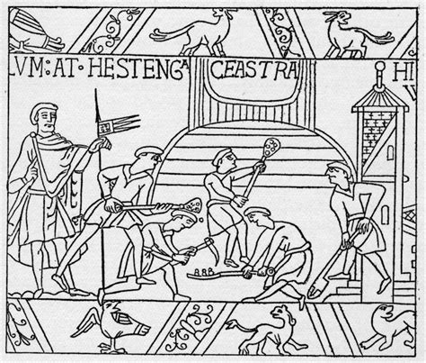 Bayeux Tapestry Colouring Pages Free Bayeux Tapestry Coloring Pages