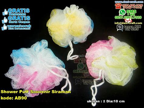 Bunga Puff Wd T1310 3 shower puff gosok mandi souvenir siraman souvenir pernikahan