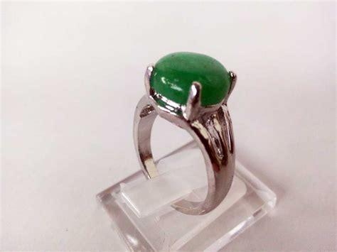 Cincin Cat Hijau Bulat jual cincin wanita batu akik hijau lumut bulat rchl03