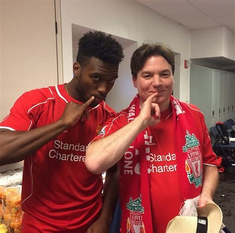 mike myers football daniel sturridge shows his evil side in photo with austin