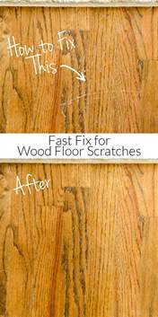 Wood Floor Scratch Repair How To Repair Wood Floor Scratches Fix Friday Polished Habitat