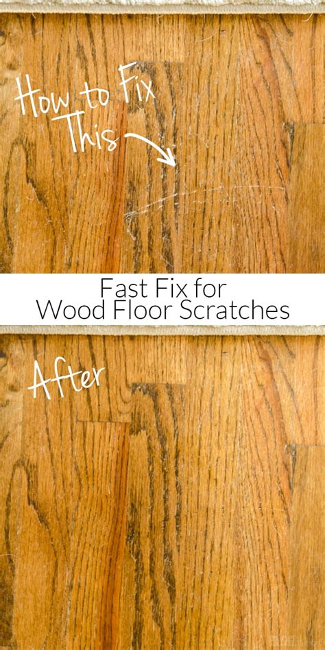 Repair Scratches In Wood Floor How To Repair Wood Floor Scratches Fix Friday Polished Habitat