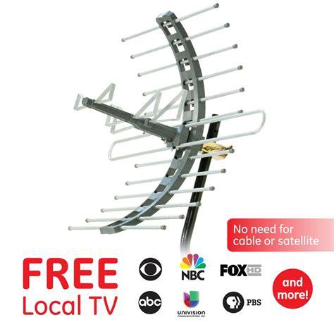 ge pro outdoorattic mount tv antenna  mile range