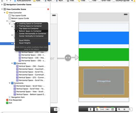 auto layout constraints xcode 6 storyboard life of i