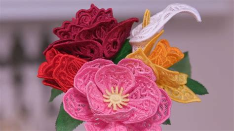 Flowers Lace 3d freestanding lace flowers