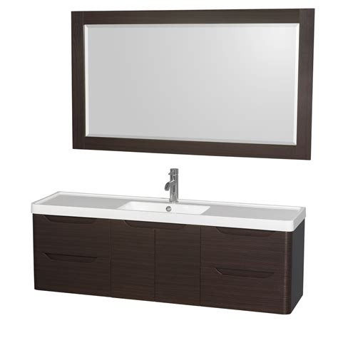 murano 60 quot wall mounted bathroom vanity set with