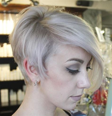 pixie haircuts with long bangs with veiw of front sides and back funky short pixie haircut with long bangs ideas 70