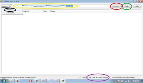 tutorial flash mi4c cara flash ulang mi4c yang bootloop via miflash tutorial