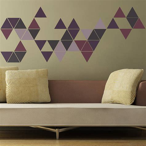 geometric wall stickers geometric triangles wall stickers by the binary box