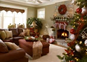 delightful Christmas Indoor Decorating Ideas #2: interior-fair-picture-cool-barn-house-living-room-design-and-decoration-using-l-shape-upholstered-dark-brown-leather-living-room-sofa-including-indoor-light-brown-stone-fireplace-surround-and-rectangu.jpg