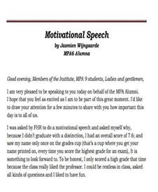 Sle Of Inspirational Speech For Students 37 speech formats
