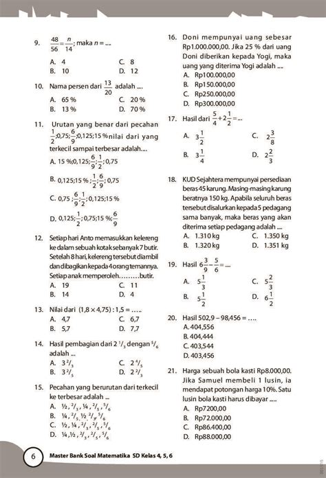Jual Buku Soal Sd Kelas 1 by Jual Buku Master Bank Soal Matematika Sd Kelas 4 5 6 Oleh