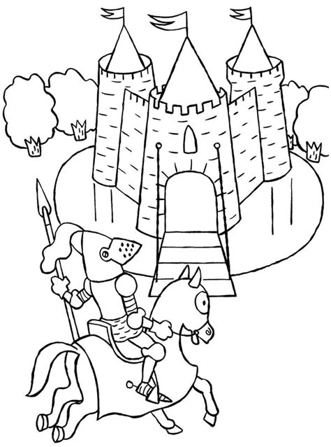 coloring pictures of knights and castles knight ride a horse to castle coloring page knight ride a