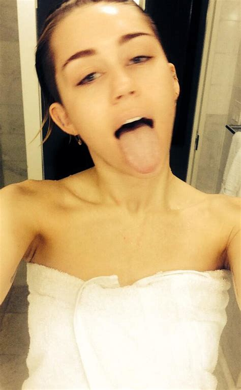 miley cyrus nude in bathtub miley cyrus shares shower selfie take a look newswirengr