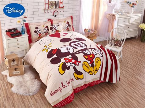 mickey  minnie mouse comforter bedding sets singletwin