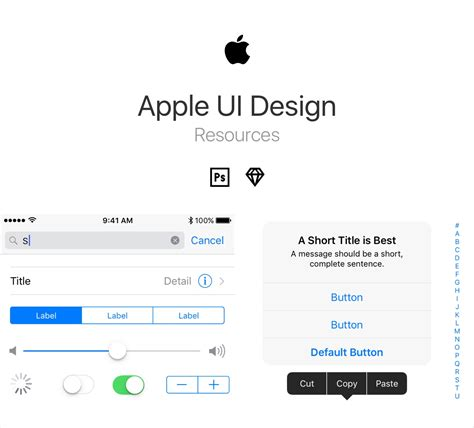 design resources apple ui design resources for psd and sketch freebiesui