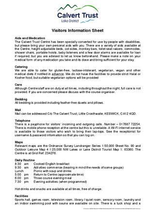 visitors information sheet  sarah nicholson issuu