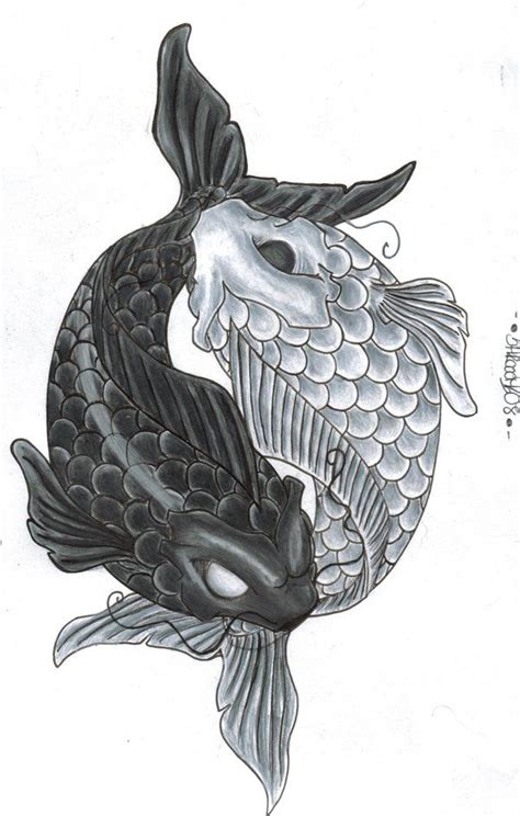 yin yang koi fish tattoo best 25 fish drawing images ideas on koi