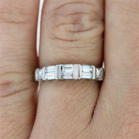 wedding bands with baguettes 15 best collection of wedding bands with baguettes