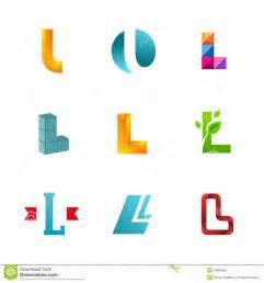 l design set of letter l logo icons design template elements stock