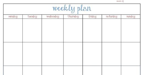 home plan weekly the cluttered house weekly planner printable