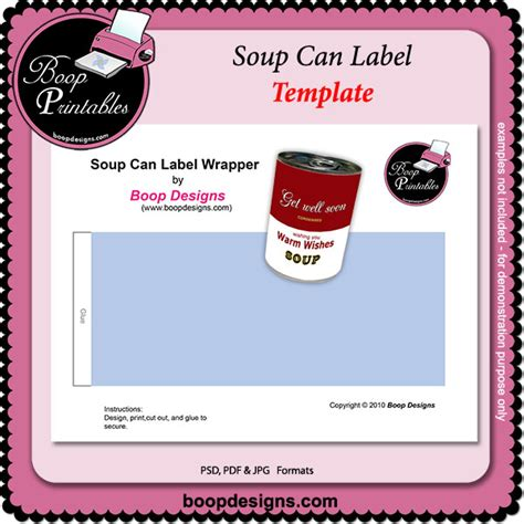 Soup Can Label Template By Boop Printable Designs Soup Can Label Template By Boop Designs Bp Paint Can Label Template