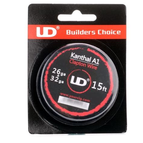 Authentic Kanthal A1 By Ud 26 044mm Ga 1 Ohm Prebuilt Coil authentic youde ud 26 32 ga kanthal a1 clapton heating wire