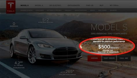 Cost Of Leasing A Tesla Tesla S Model S Lease And Financing Program Expensive
