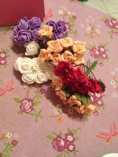 creazioni fiori di carta set 12 fiori di carta per creazioni materiali