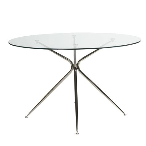 48 inch round tempered glass table top atos 48 inch round dining table with clear tempered glass