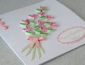how to make a card flowers for flower home made flowers greetings