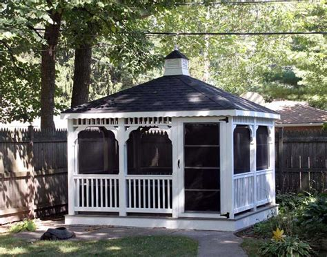 vinyl gazebo vinyl single roof rectangle gazebos gazebos by material