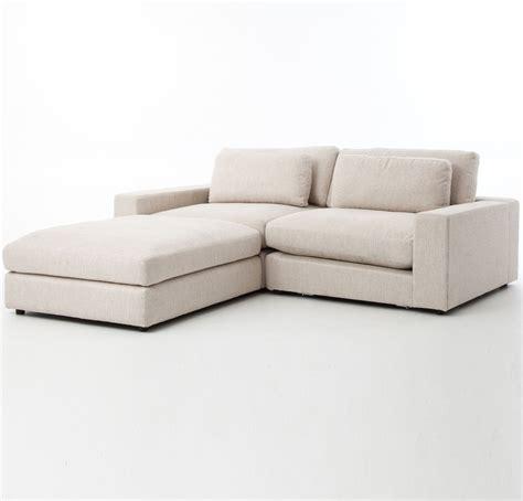 small 3 piece sectional sofa bloor beige contemporary 3 piece small sectional sofa