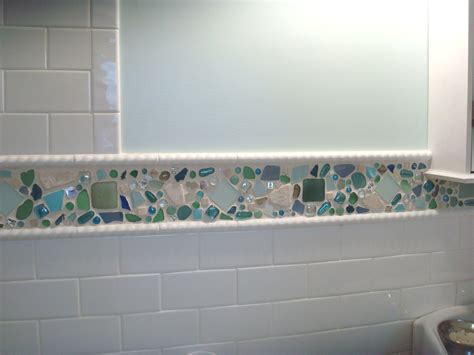 glass tile backsplash ideas bathroom decorating ideas epic blue green mosaic beach glass tile