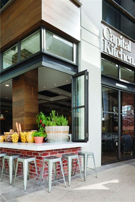 cafe design front clean and modern cafe with home style design capital