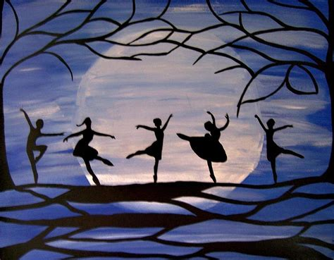 dance by the light of the moon dance by the light of the moon painting by rachel olynuk