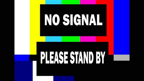 Bedroom Tv No Signal Television Test Pattern With Noise And Stand By