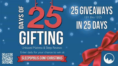 Giveaways For Christmas - 25 christmas giveaways in 25 days sleepopolis