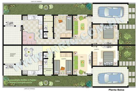 planta de casas casas geminadas dicas plantas e projetos