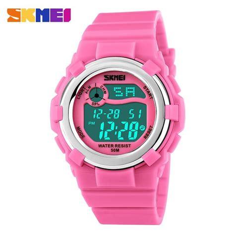Skmei Digital Dua Waktu Anak Oranye jual beli jam tangan anak perempuan anti air original