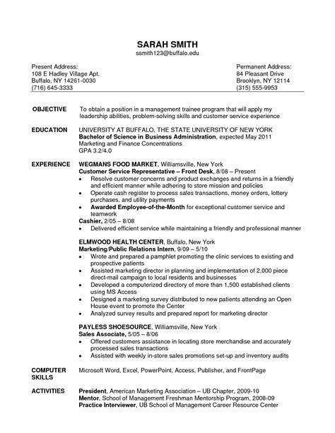 resume format for retail objective for resume sales associate writing resume