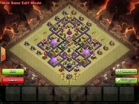 th7 ultimate layout clash of clans town hall 8 war base allclash featured