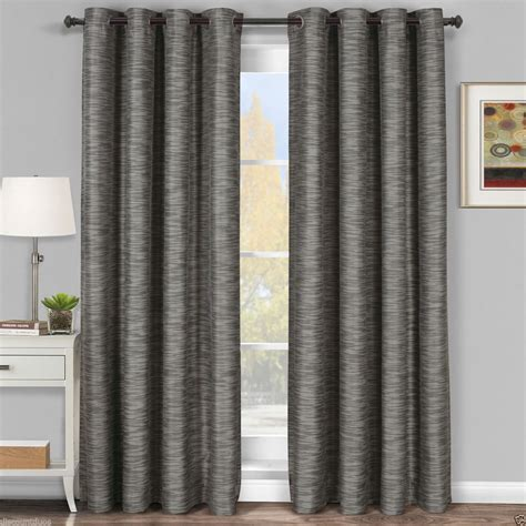 gray black curtains gray galleria tonal stripe grommet blackout window curtain