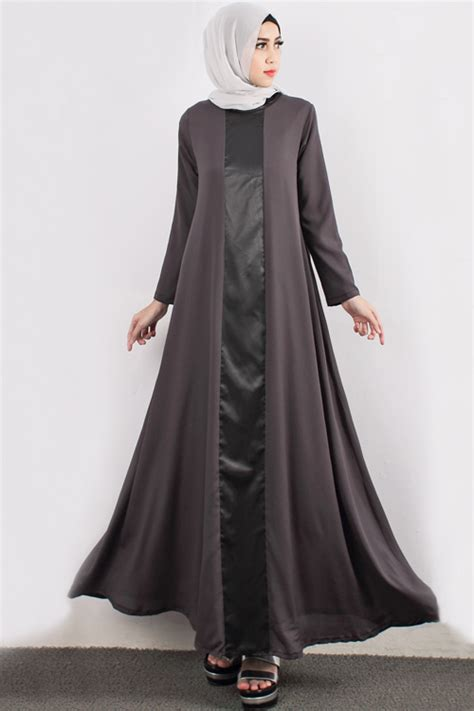 Modern Set 3in1 Dress Jaket Pashmina satin leather with a cut jubah dress including shawl dress shopping ezytred malaysia