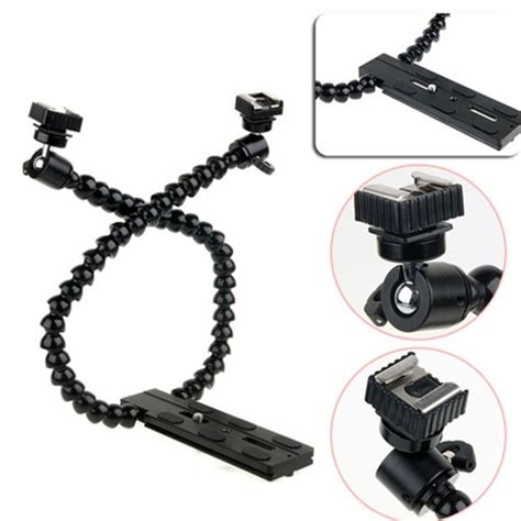 Dual Flash Holder Untuk P octopus dual arm dual shoe flash bracket holder