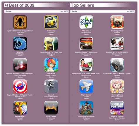 Image Gallery iphone games store