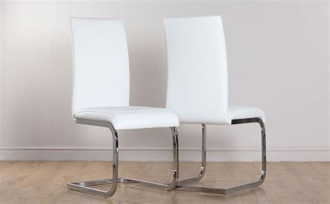 perth white leather dining chair   furniture choice